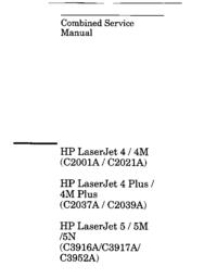 Manual de serviço HewlettPackard LaserJet 5M