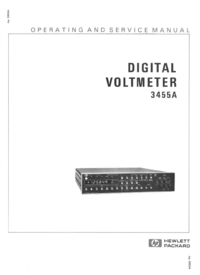 Servizio e manuale utente HewlettPackard 3455A