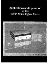 Instrukcja obsługi HewlettPackard 8970A