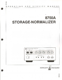Servicio y Manual del usuario HewlettPackard 8750A
