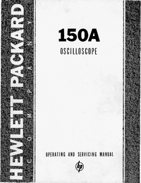 Servicio y Manual del usuario HewlettPackard 152A