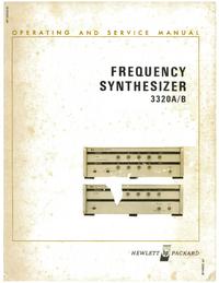 Serviço e Manual do Usuário HewlettPackard 3320A