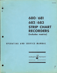 Service and User Manual HewlettPackard 680