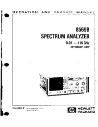 Serwis i User Manual HewlettPackard 8569B