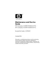 Manuale di servizio HewlettPackard NX6300
