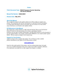 Service-en gebruikershandleiding HewlettPackard 5382A