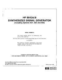 Serviço e Manual do Usuário HewlettPackard 8642B