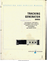 Service Manual HewlettPackard 8444A