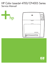 Service Manual HewlettPackard Color LaserJet CP4005 Series