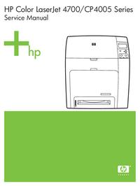 Manual de servicio HewlettPackard Color LaserJet CP4005 Series