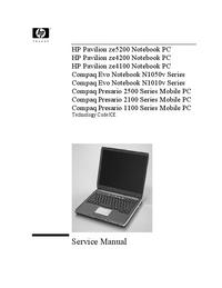 Руководство по техническому обслуживанию HewlettPackard Compaq Presario 2100 Series