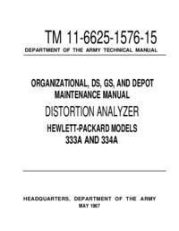 Service- und Bedienungsanleitung HewlettPackard 333A