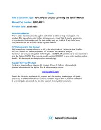 Руководство по техническому обслуживанию HewlettPackard 1345A