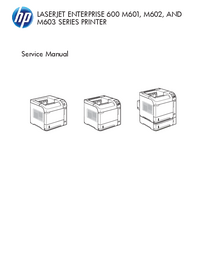 Manual de servicio HewlettPackard LaserJet Enterprise M603