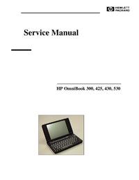 Service Manual HewlettPackard OmniBook 425