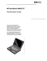 manuel de réparation HewlettPackard OmniBook 4000CT