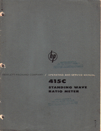 Service Manual HewlettPackard 415C
