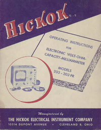 Manual de serviço, diagrama cirquit só Hickok 203