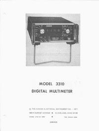 Manuale di servizio Hickok 3310