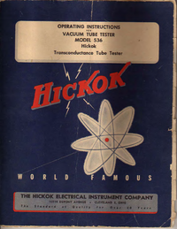 Service and User Manual Hickok 536