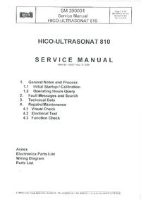Service Manual Hico Ultrasonat 810
