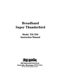 Service and User Manual HighGain TH-7DX