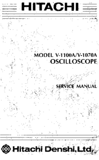 Service Manual Hitachi V-1070A
