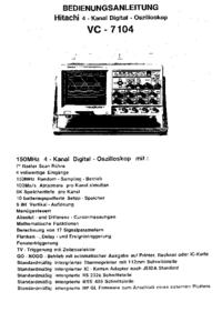 User Manual Hitachi VC-7104