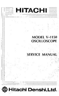 Manual de servicio Hitachi V-1150