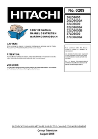 Service Manual Hitachi 26LD6600