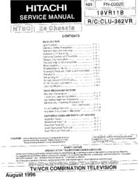 Serviceanleitung Hitachi Z5