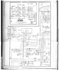 Cirquit Diagram Hitachi CPT-1420R