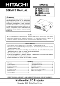 Manual de serviço Hitachi ED-X8255