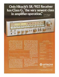 Fiche technique Hitachi SR903