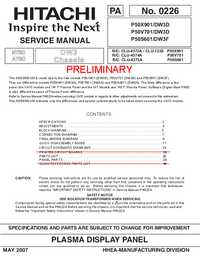 Service Manual Hitachi P50X901/DW3D