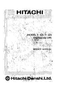 Manual de servicio Hitachi V-225