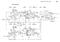 Service Manual, cirquit diagram only Hitachi CS-113