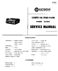 Schema Hitachi CS-203