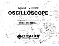 User Manual with schematics Hitachi V-550B