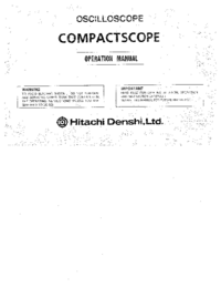 User Manual Hitachi V-1065A