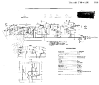 Cirquit Diagramma Hitachi TM-415 E