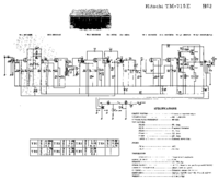 Cirquit Diagrama Hitachi TM-715E