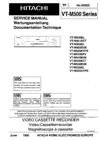 Service Manual Hitachi VT-M535EVPS