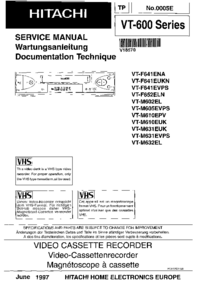 Service Manual Hitachi VT-M602EL