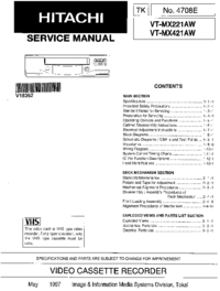 Manual de servicio Hitachi VT-MX221AW