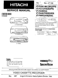 Service Manual Hitachi VT-F660E(U KN)(N AV)