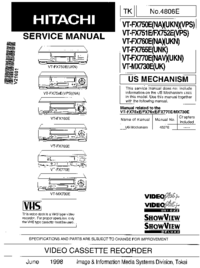Servicehandboek Hitachi VT-MX730E(UK)