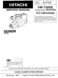 Service Manual Hitachi VM-7380E