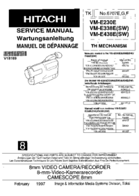 Service Manual Hitachi VM-E438E(SW)