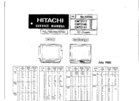 Cirquit Diagrama Hitachi CMT2157